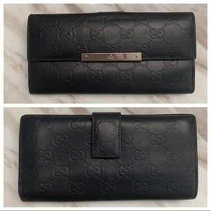 Authentic Gucci Guccissima Logo Continental Wallet